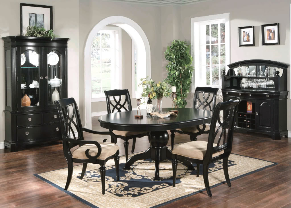 Amazing Black Dining Room Table And Chairs Black Formal Dining Room Set 19909