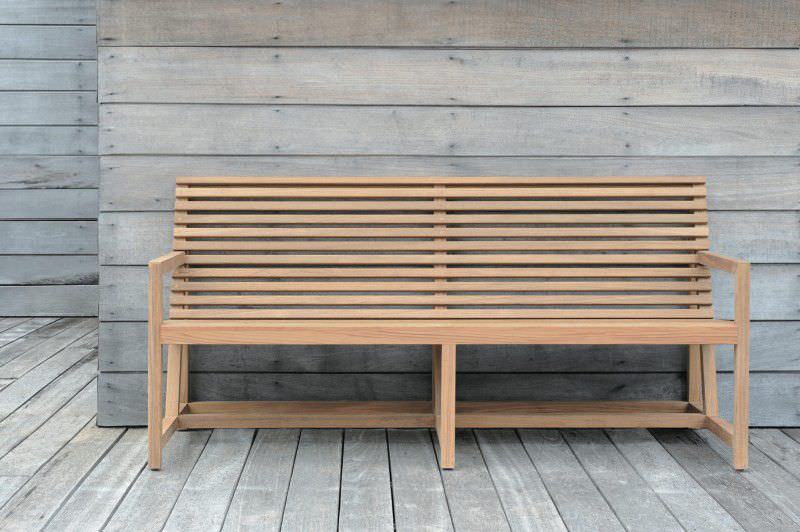 Amazing Contemporary Garden Bench Garden Bench Contemporary Teak With Backrest Tecto Tectona