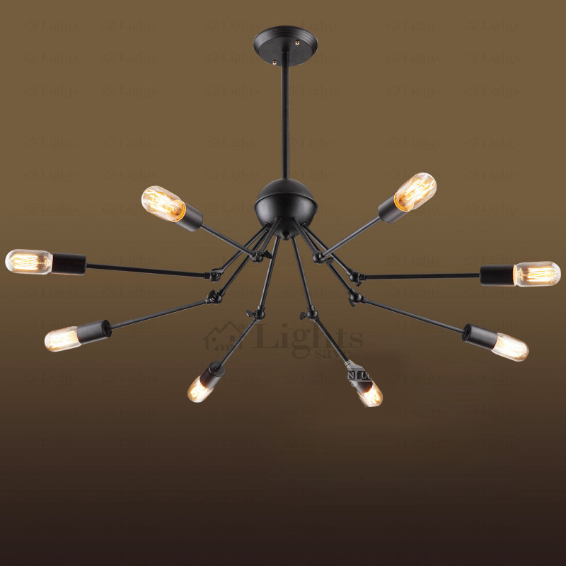 Amazing Industrial Chandelier Lighting Vintage E26e27 Screw Base Spider Industrial Chandelier Lighting