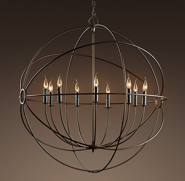 Amazing Large Circular Chandelier Innovative Circular Chandelier Lighting Foucaults Iron Orb