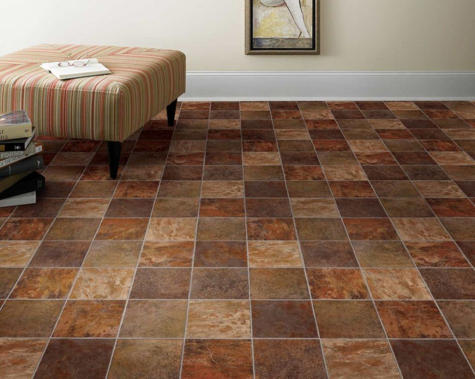 Amazing Large Vinyl Floor Tiles Flooring Ideas Orange Accent Vinyl Floor Smart Homes