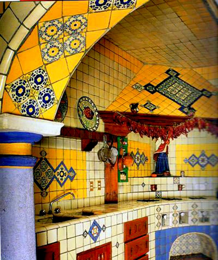Mexican Style Kitchen | Beautiful Mexican Kitchen Design 44 Top Talavera Tile Design Ideas