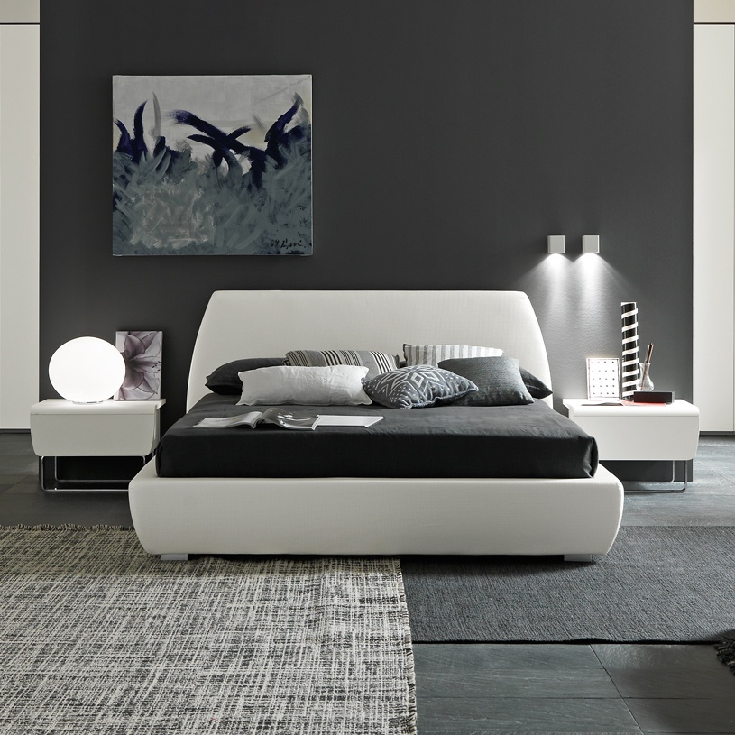 Amazing Modern Italian Bed From Stock Mellow Storage Modern Upholstered Bed