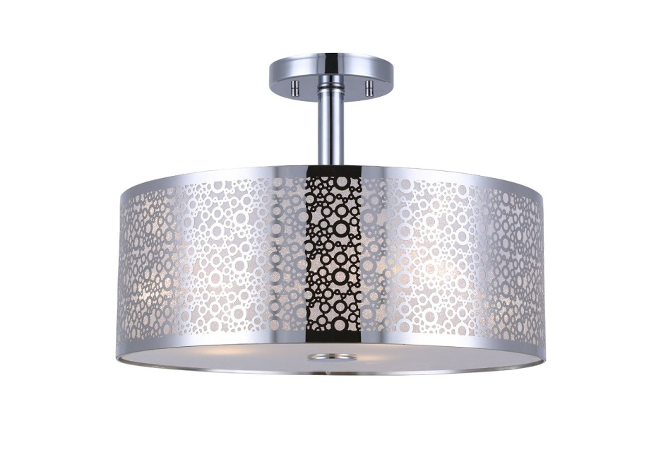 Amazing Modern Silver Ceiling Lights Decoration Ideas Luxury Modern Semi Flush Mount Ceiling Light With