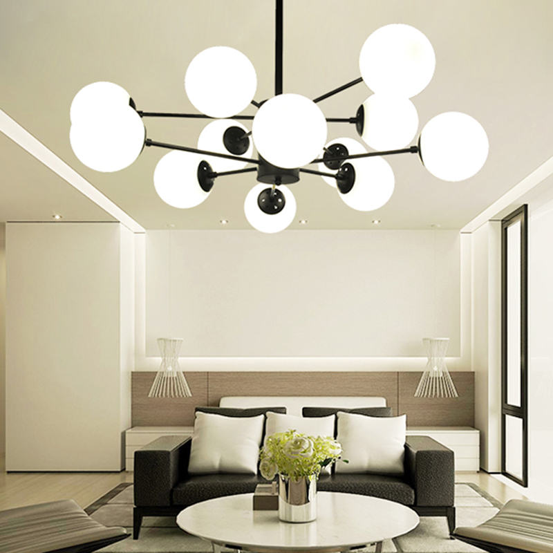 Amazing of Ball Chandelier Light E27 Industrial Style Glass Ball Chandelier Light Lighting 12