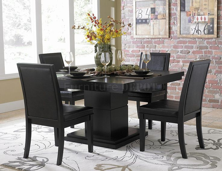 Amazing of Black Dining Room Set Modern Black Dining Room Sets Dining Ideas