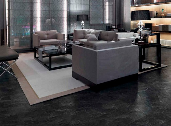 Amazing of Black Vinyl Flooring Black Vinyl Flooring Sheet In Living Room With Modern Brown Sofa
