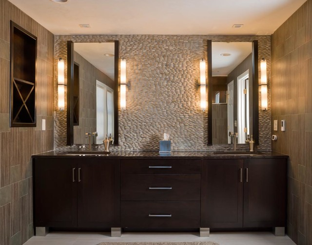 Amazing of Contemporary Bath Cabinets Walnut Contemporary Bath Modern Bathroom Boston Scandia