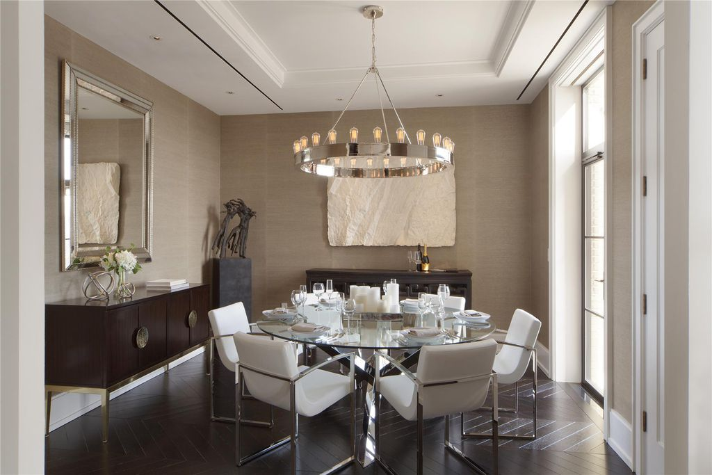 Amazing of Contemporary Dining Room Ceiling Lights Contemporary Dining Room With Chandelier High Ceiling In New