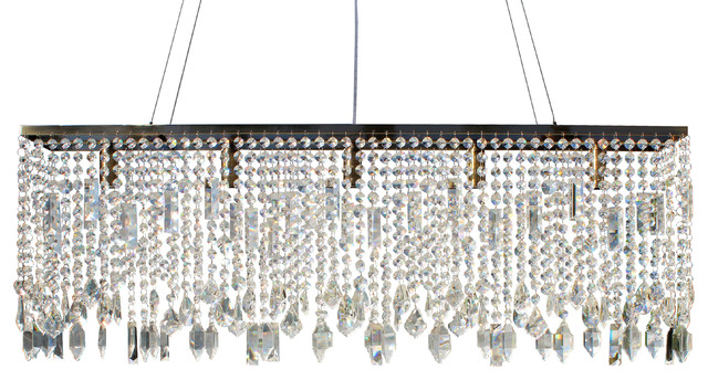 Amazing of Contemporary Rectangular Chandelier 40 Sofia Glass Crystal Rectangular Chandelier Antique Brass