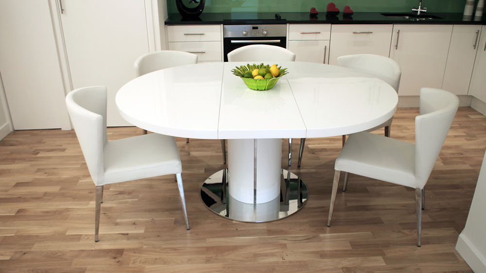 Amazing of Contemporary Round Dining Table For 6 Extending Dining Table And 6 Chairs Glamorous Ideas Contemporary