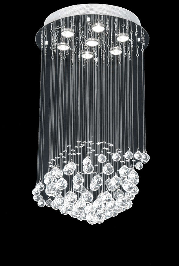 Amazing of Crystal Chandelier Contemporary Design Modern Crystal Chandelier Lighting Drop Pendant Lamp For Intended
