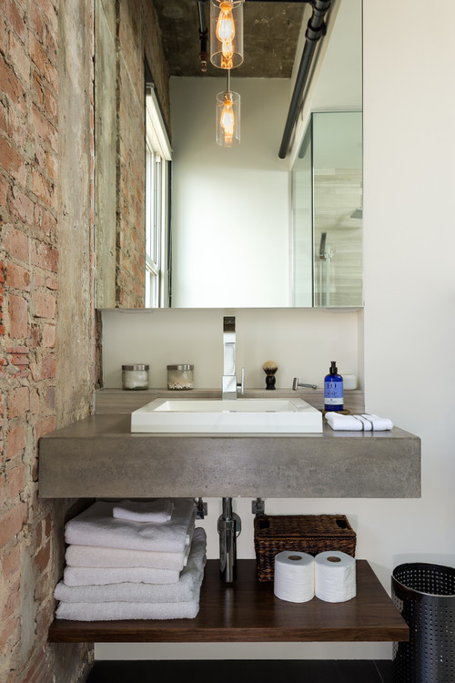 Amazing of Industrial Modern Bathroom Vanity Bathroom Industrial Bathroom Vanity Wonderful On Intended For