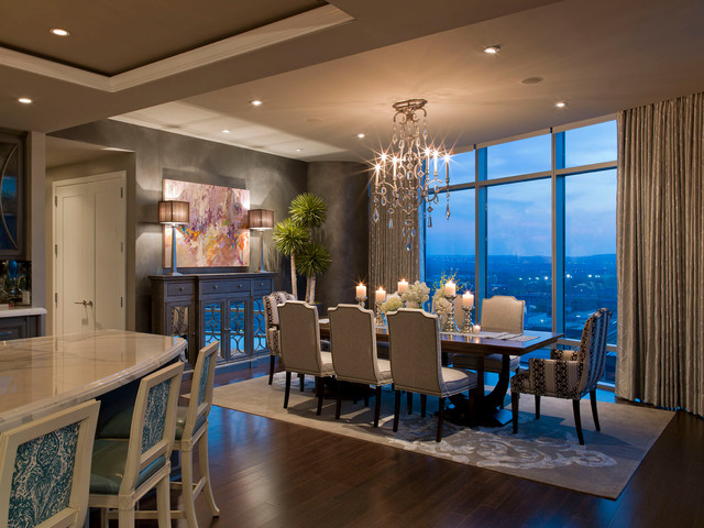Amazing of Luxury Condo Interior Design Austonian Luxury Condo Contemporary Dining Room Austin