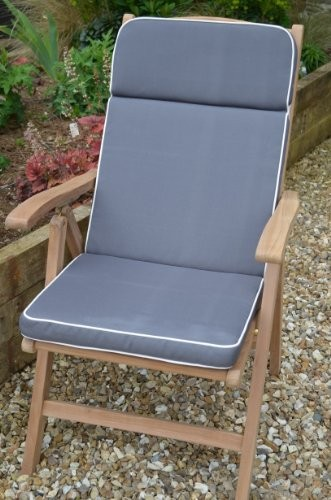 Amazing of Luxury Garden Recliner Chairs Garden Recliner Chair Cushion Dove Grey Cushion Only