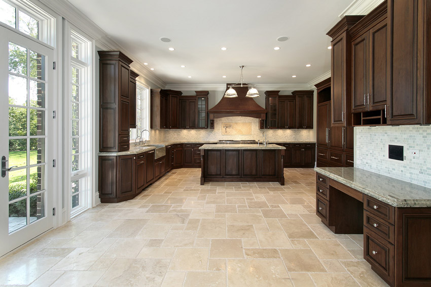 Amazing of Luxury Kitchen Floor Tiles Kitchen Outstanding Kitchen Floor Tiles With Dark Cabinets 3z