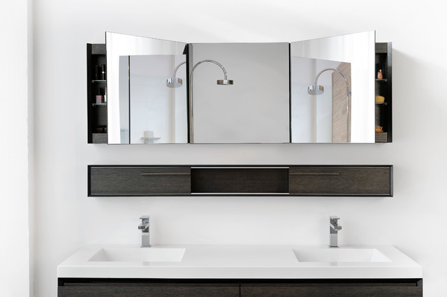 Amazing of Modern Bathroom Mirror Cabinets Amazing Chic Modern Bathroom Mirror Mirrors And Lighting The Ideas