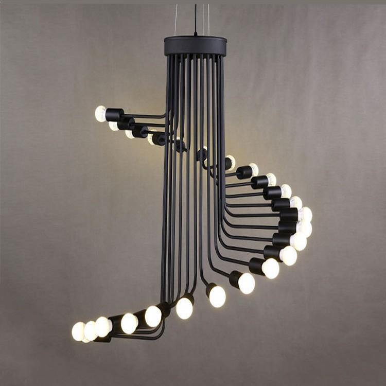 Amazing of Modern Industrial Chandelier Modern Loft Industrial Chandelier Lights Bar Stair Dining Room