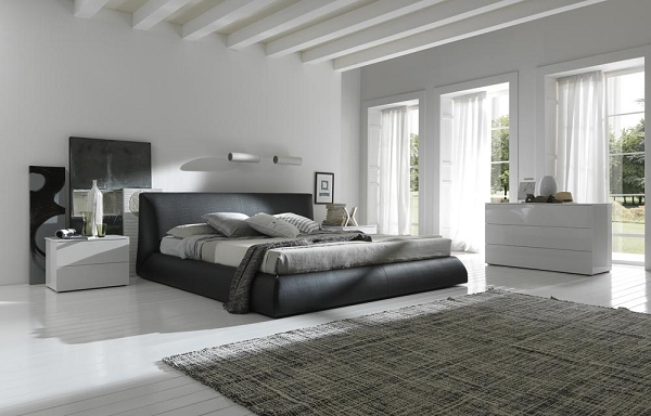 Amazing of Modern Italian Bed Calabria Brown Upholstered Italian Bed King Size