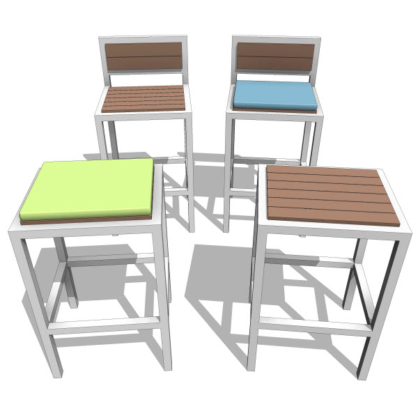 Amazing of Modern Outdoor Stools Talt Collection Bar Stool 10051 200 Revit Families Modern