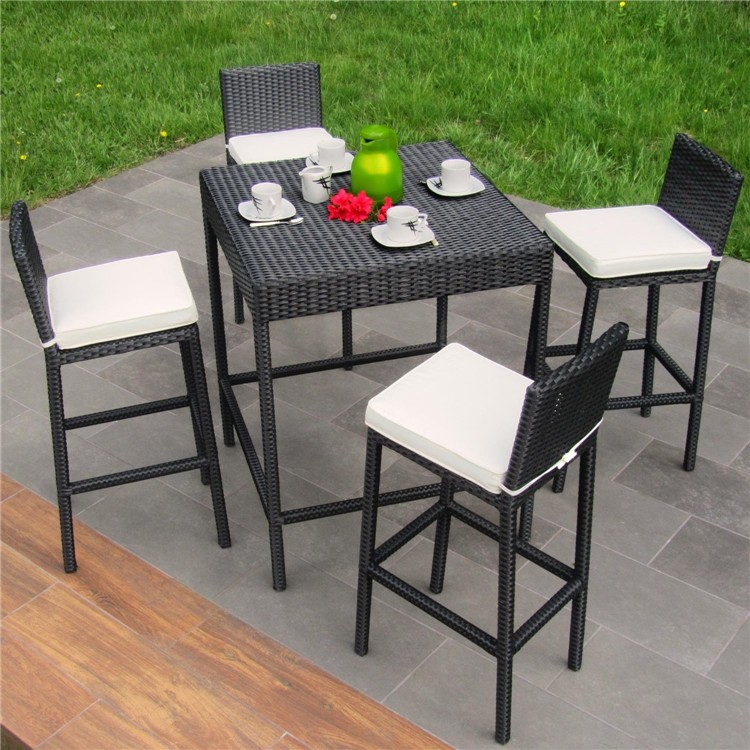 Amazing of Outdoor High Chair 10 Seater Large Synthetic Rattan High Chair Dining Table Outdoor
