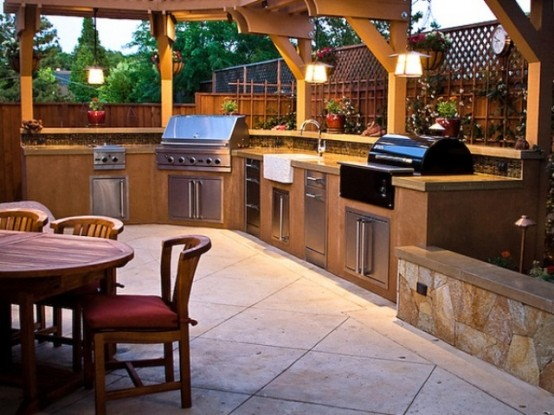 Amazing of Outdoor Kitchen Designs 95 Cool Outdoor Kitchen Designs Digsdigs