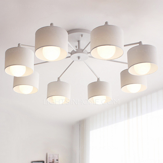 Amazing of Simple Ceiling Lights Nice White Ceiling Lights Simple 8 Light E26e27 White Flush Mount