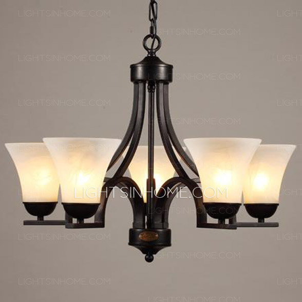 Amazing of Wrought Iron Chandeliers Black 5 Light Wrought Iron Chandeliers With E27 Lamp Holder