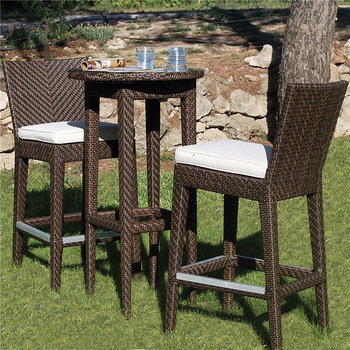 Amazing Outdoor High Chair Rattan Furniture Outdoor Bistro Set Rattan Bar Stool High Chairs