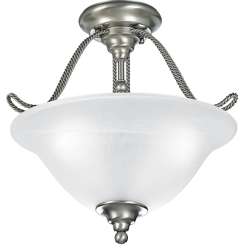 Amazing Three Lamp Ceiling Lights Three Lamp Semi Flush Mount Ceiling Light Fixture With Swirled