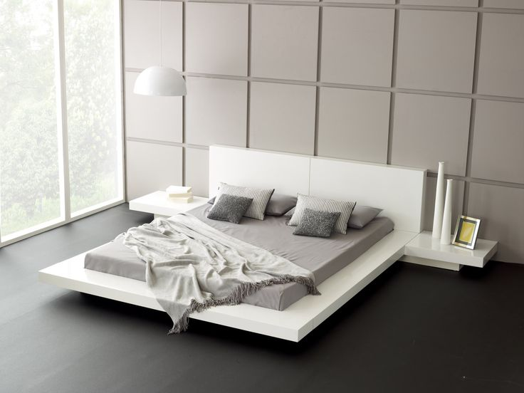 Nice White Contemporary Bed Modern White Bed Vg77 Modern Bedroom ...