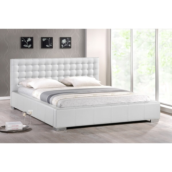 Amazing White Modern Bed Madison White Modern Queen Size Platform Bed Free Shipping Today