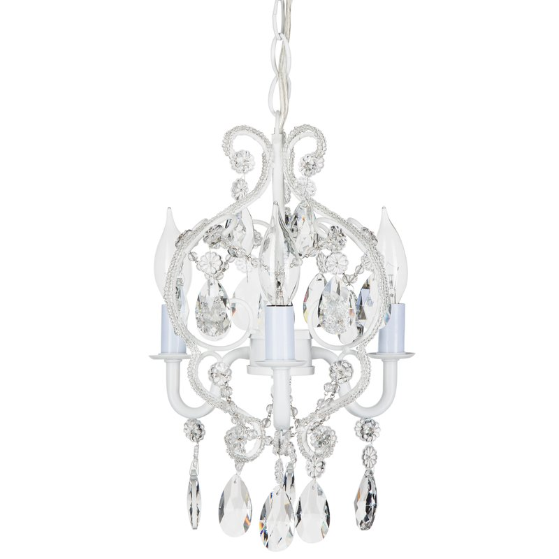 Attractive 3 Light Chandelier House Of Hampton Alida 3 Light Crystal Chandelier Reviews Wayfair