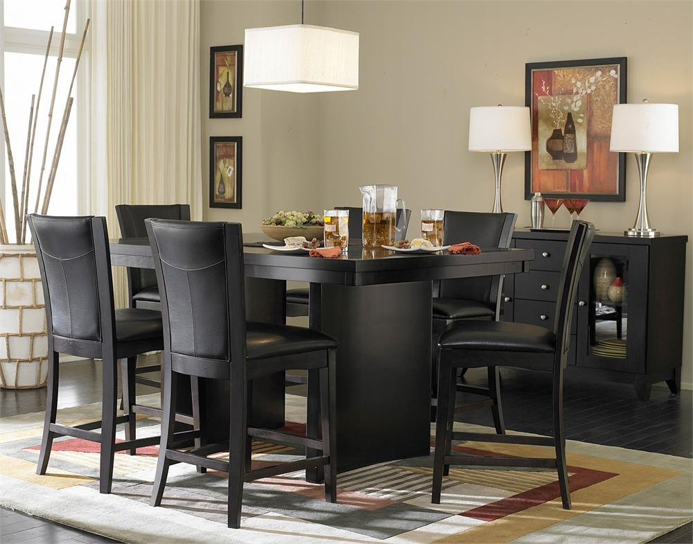 Attractive Black Dining Room Set Living Room Endearing Black Dining Room Sets Furniture Modern