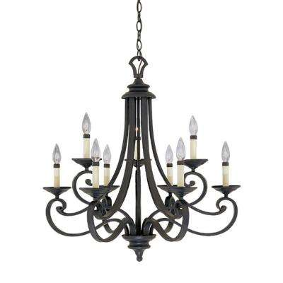 Attractive Black Iron Chandelier Black Chandeliers Lighting The Home Depot