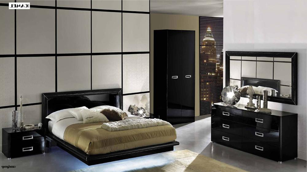 Attractive Black Lacquer Bedroom Furniture La Star High Gloss Black Lacquer Bedroom Set Bedroom Sets