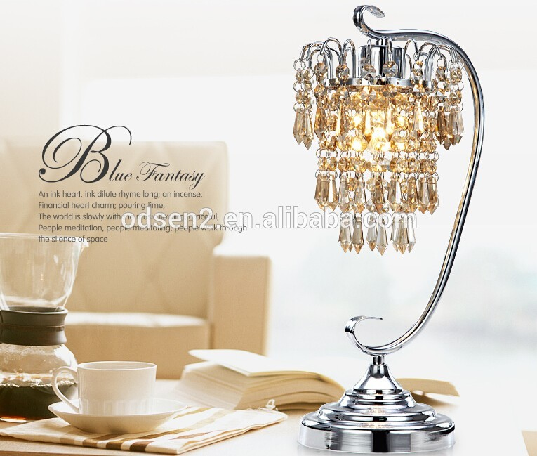 Attractive Chandelier Table Lamp Cordless Crystal Chandelier Table