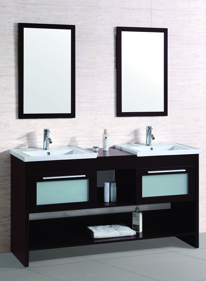 Attractive Contemporary Bathroom Cabinets Contemporary Bathroom Vanity Legion Wt9118 R Espresso Finish