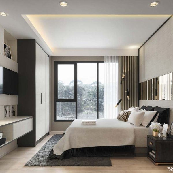 Attractive Contemporary Bedroom Decor Modern Bedroom Black And White Prints Interior Design Ideas Modern