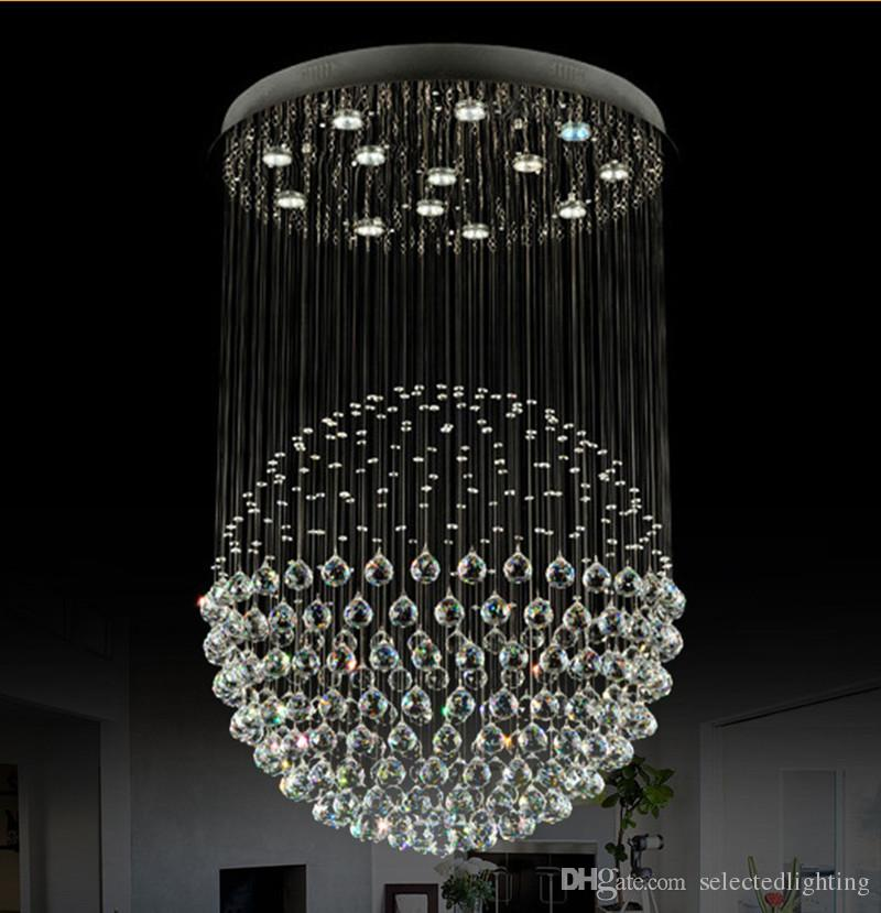 Attractive Crystal Ball Chandelier Best Crystal Ball Chandelier Lighting Fixture Modern Staircase Led
