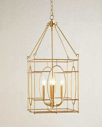 Attractive Gold Lantern Chandelier Gold Four Light Lantern Chandelier