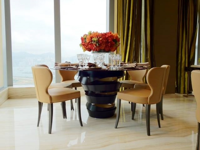 Attractive High End Round Dining Room Tables Top Modern Round Dining Tables About Classic Accent Round Dining