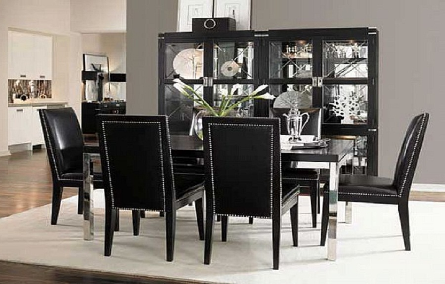 Attractive High Top Dining Room Chairs Indigo Creek Black Round Pedestal Dining Room Table Set Black
