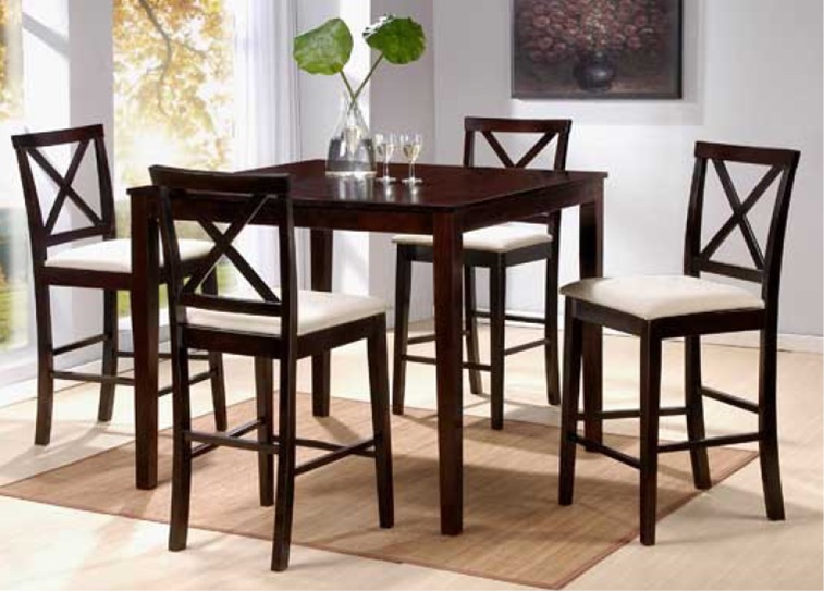 Attractive High Top Dining Room Chairs Tall Dining Tables And Chairs 5987