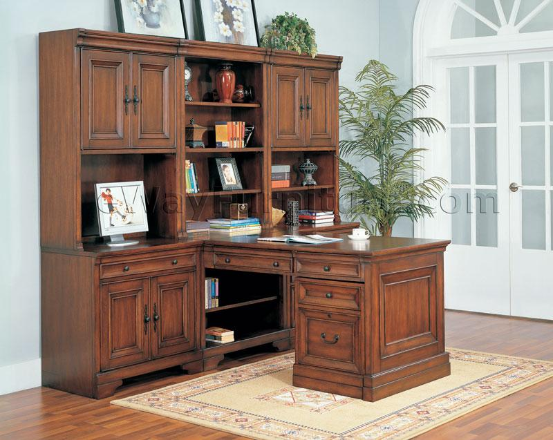 Attractive Home Office Furniture Aspenhome Warm Cherry Executive Modular Home Office Furniture Set