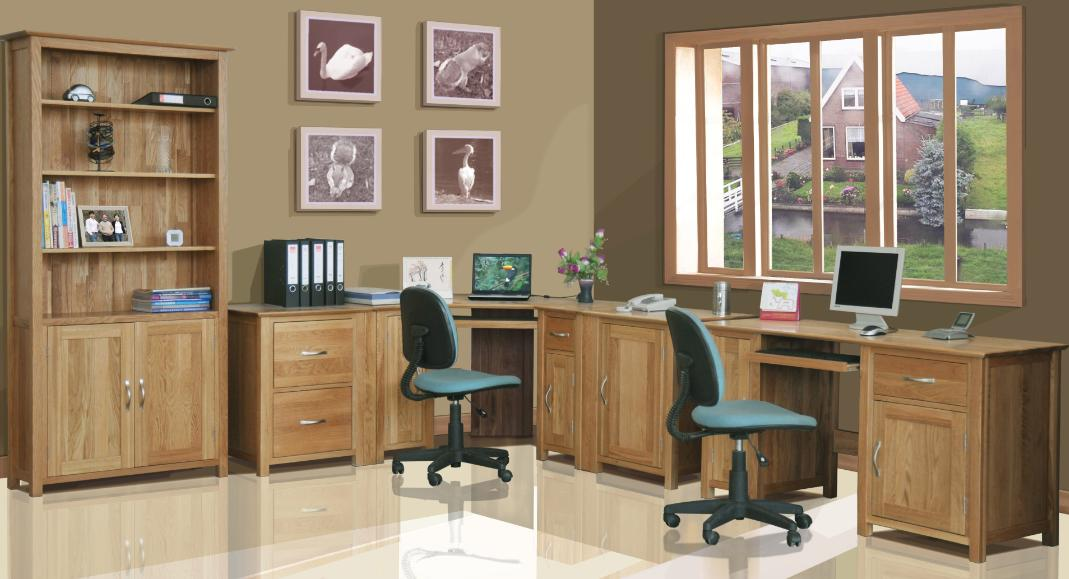 Attractive Home Office Furniture Oak Home Office Furniture Amazing 2 Novicapco