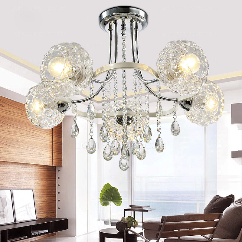 Attractive Large Ceiling Lights Crystal Large Ceiling Lights And 5 Light Glass