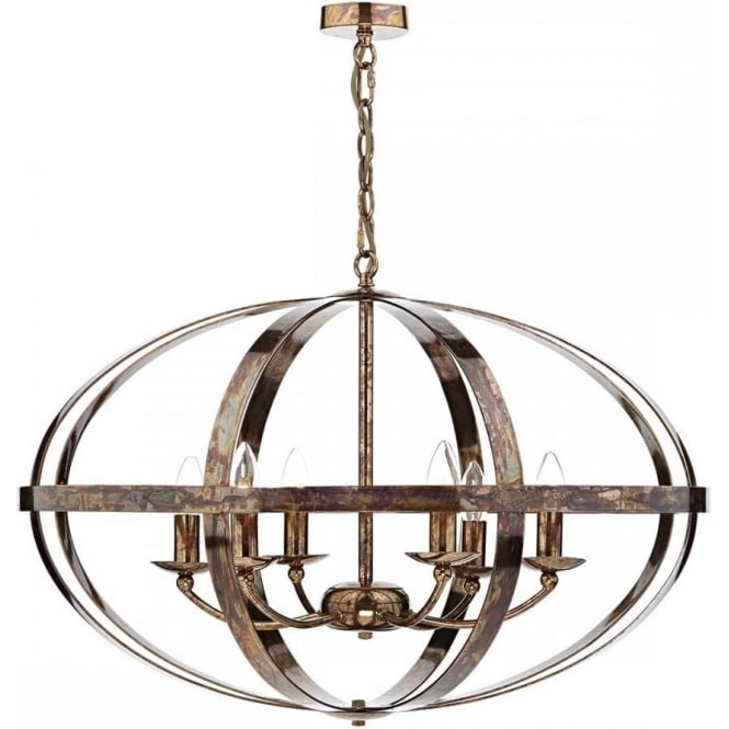 Attractive Large Ceiling Lights Large Open Copper Frame Ceiling Light In Updated Medieval Styling