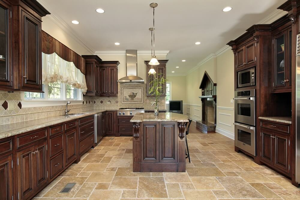 Attractive Luxury Kitchen Floor Tiles Kitchen Beautiful Kitchen Floor Tiles With Dark Cabinets Winsome