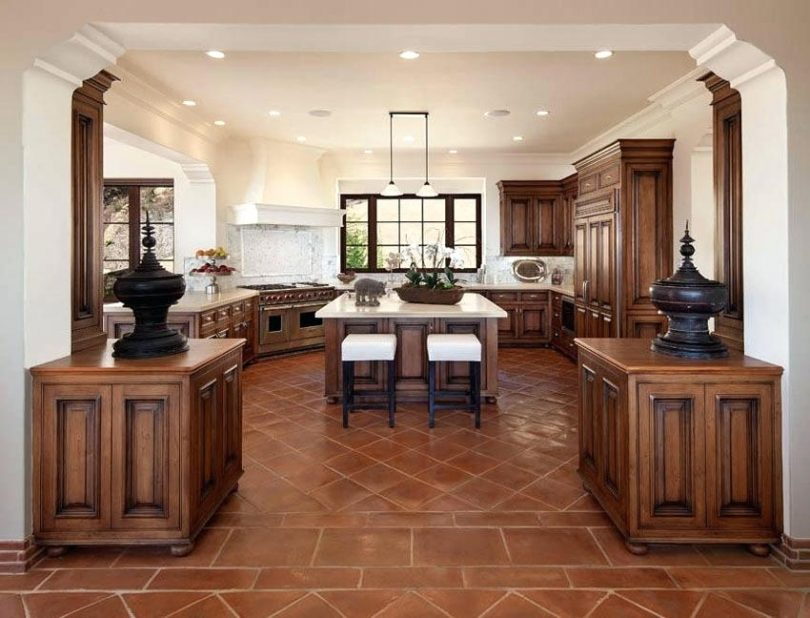 Attractive Luxury Kitchen Tiles Terracotta Floor Tile Near Me Luxury Kitchen With Center Island